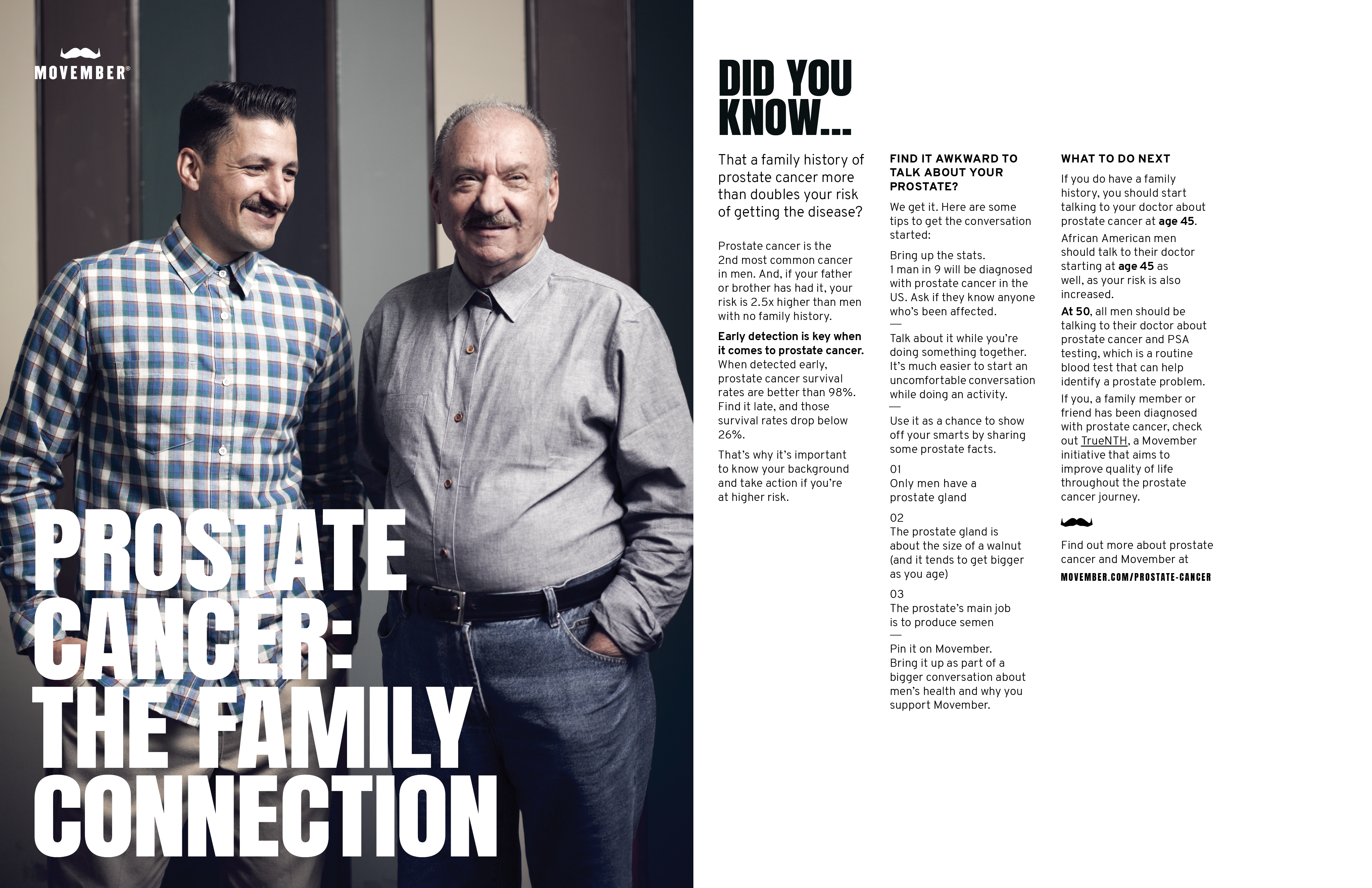 Prostate Cancer: The Family Connection. Family History and Prostate Cancer Risk. Click to Download PDF